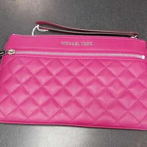 Michael Kors Quilted Leather Wristlet